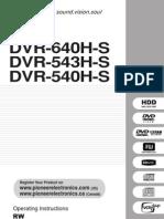 Pioneer DVR 640H S