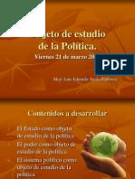 Clase 10 - Objeto de Estudio de La Politica