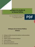 Clase 9 - Enfoques de Estudio de La Ciencia Politica