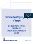 Overview of Welding and Joining of Titanium