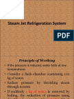Steam Jet Refrigeration System and ICe Refrigeration