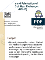 Design and Fabrication of Helical Coil Heat Exchanger