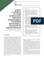 09.004 Factores metabólicos de riesgo cardiovascular. Relevancia epidemiológica. Tratamiento farmacológico. Situaciones de especial relevancia