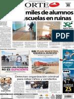 Periódico Norte de Ciudad Juárez edición impresa del 30 marzo del 2014