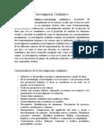Investigación Cualitativa (Concepto, caracteristicas, etc)