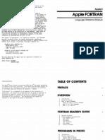 Apple II FORTRAN Reference Manual