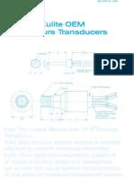 EOM Pressure Transducer KO 1000