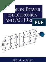 Modern Power Electronics and AC Drives - Bimal K. Bose