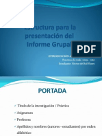 Estructura Informe Grupal ITS HECTOR Del Sol Oct09