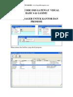 SMS Manager SMS Gateway Dengan Visual Basic Dan Gammu