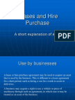 Leases and Hire Purchase