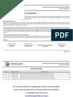 Dept of Transportation Records Retention Schedule v1.2 Jun 2013