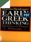 Heidegger, Martin - Early Greek Thinking (Harper & Row, 1975)