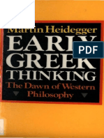 Heidegger, Martin - Early Greek Thinking (Harper & Row, 1975)