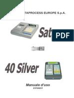 Manuale d'uso Registratore Dataprocess Saturno 40 Silver