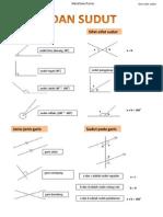 Matematik PMR-Garis & Sudut