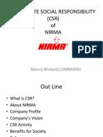 Nirma Corporate Social Responsibility (Csr)