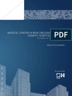 Medical Center of New Orleans Charity Hospital Executive Summary Feasibility Study