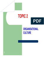 2014 Sem 1 - Topic 2 - Organisational Culture & CVP Analysis