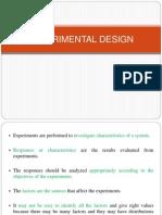Experimental Design- TQM