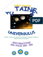 Proiect Tematic Universul