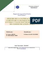 Mesure de La Satisfaction Des Clients de La Bp Envers l'Usage Des Ntic