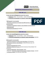 BIBLIOGRAPHIE 2012-2013