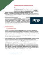 Psicología de la Educación - Tema 7