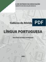 Caderno de atividade de português multipla escolha