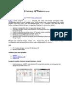 Membangun SMS Gateway Di Windows