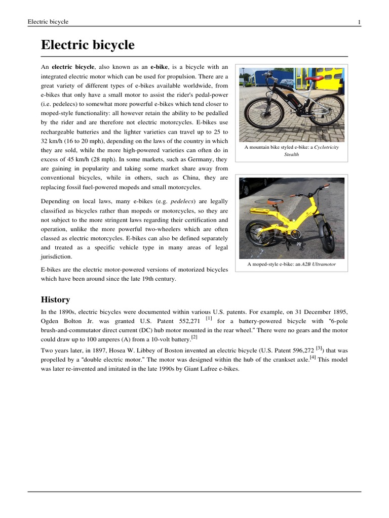 d7a1a705062 Electric Bicycle | Road Vehicles | Vehicles