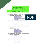 Teacher Training Seong Dong Gu