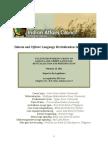 2011 Dakota and Ojibwe Language Report to the Legislature-Final