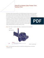 How to Use Moldex3D to Assess Gate Freeze Time and Optimize Packing Time