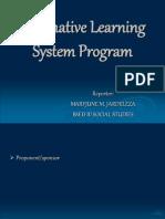 alternativelearningsystemprogram-120126022614-phpapp01