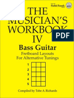 bass guitar fretboard layouts for alternative tuning