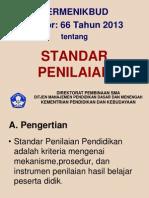Permendikbud No. 66 Tahun 2013 Standar Penilaian