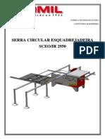 MANUAL CONJUNTOS SCEO-IR 2950 (COM 3° PÉ DE APOIO)