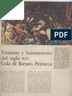 01 Tiranias y Humanismo Del Siglo XIV Cola Di Rienzo Petrarca Historia Del Mundo Pijoan Salvat T 7 1970