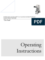 Microindentation Hardness Operating Instructions