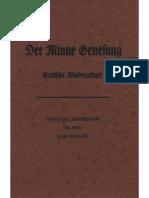 Ludendorff, Mathilde - Der Minne Genesung; Erotische Wiedergeburt; Ludendorffs Verlag,