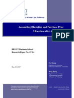 Accounting Discretion and Purchase Price Allocation After Acquisitions