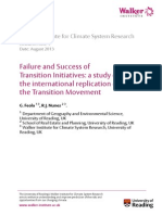 Failure and Success in Transition Inititatives
