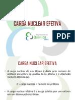 Aula 10 - Carga Nuclear Efetiva