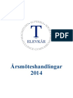 Årsmöteshandlingar 2014