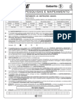 Prova Agente de Pesquisas e Mapeamento - Gabarito 3