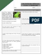 Lista Plantao Ciencias - 6 Ano 1 Bimestre Ecologia - 4-2-14