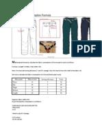 Woven Pant Consumption Formula