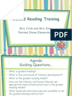 guided reading training  - teachers