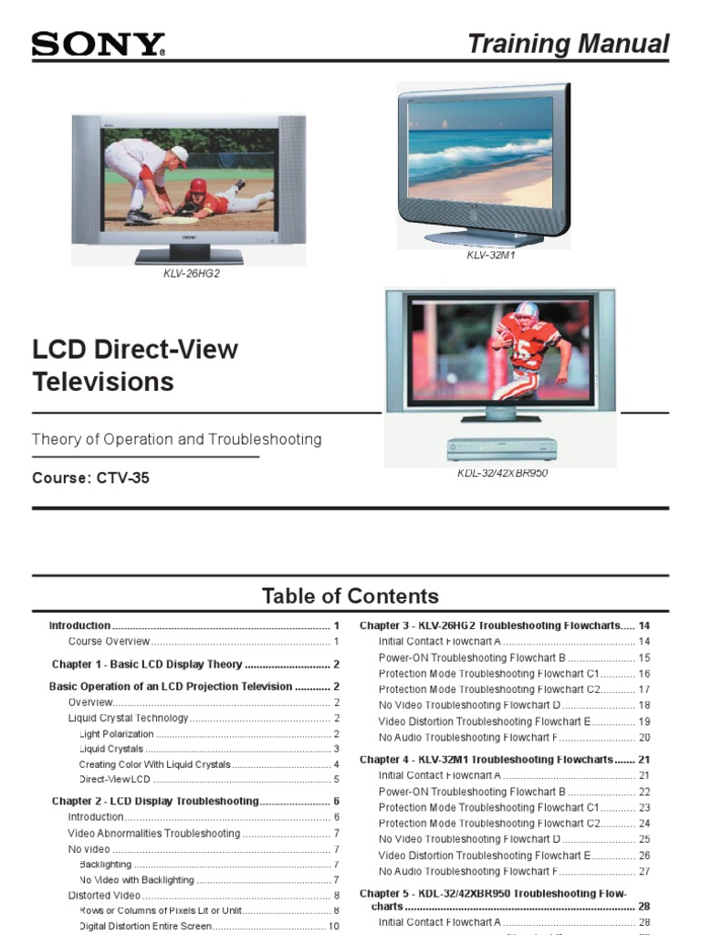 Training Manual | Thin Film Transistor Liquid Crystal Display | Liquid  Crystal Display